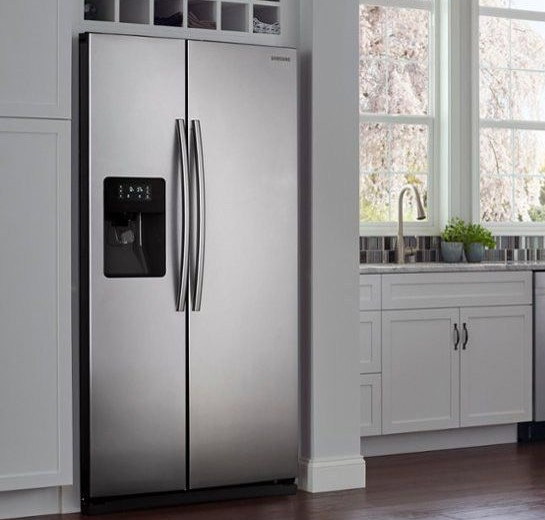 A refrigerator with an ice maker