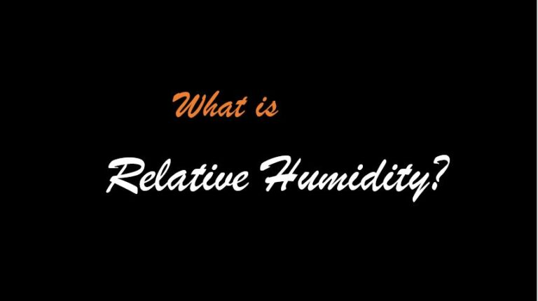 The Basic Principles of Relative Humidity