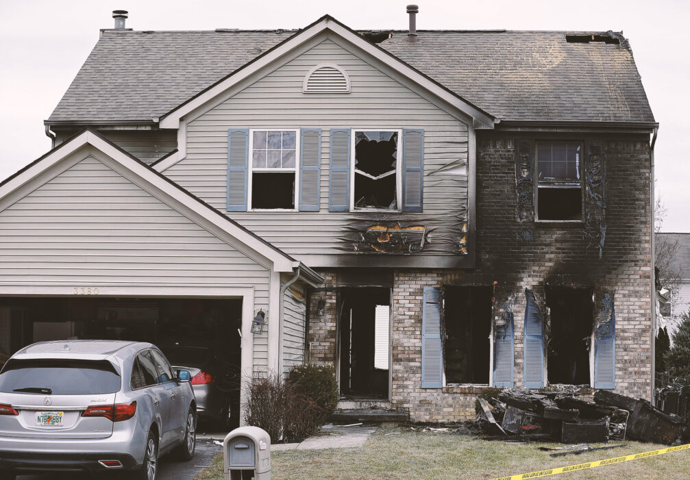 After a fire, windows and doors are often gone