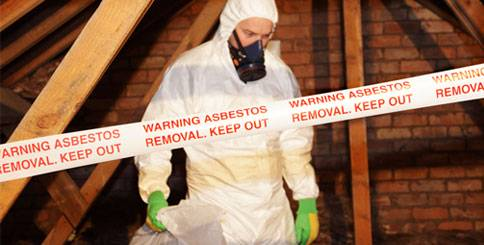 Asbestos removal by a certified technician