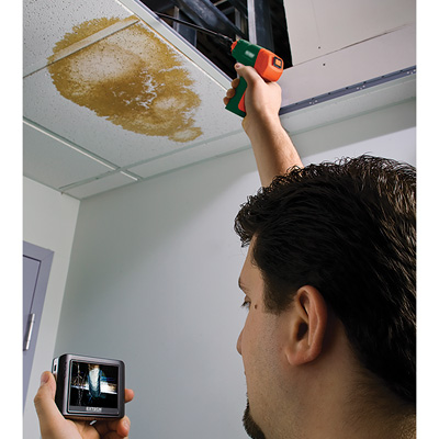 A borescope can help the technician see in hard to reach places