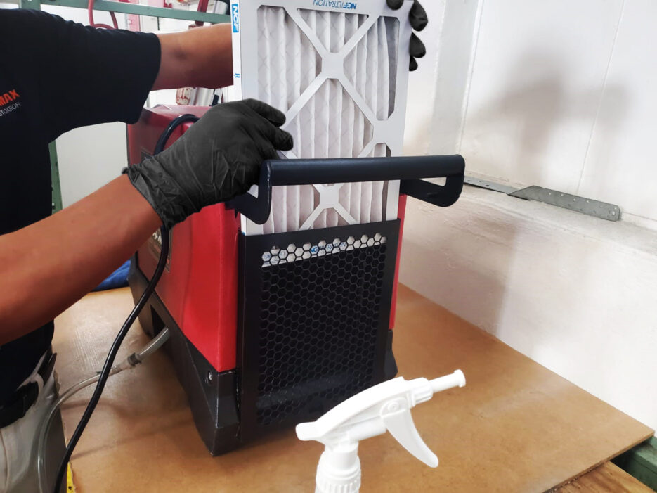 Cleaning a dehumidifier